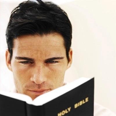 Man.Reading.Bible