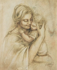 mother-holding-baby-drawing