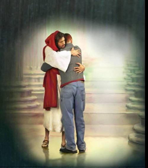 Jesus.Hugging