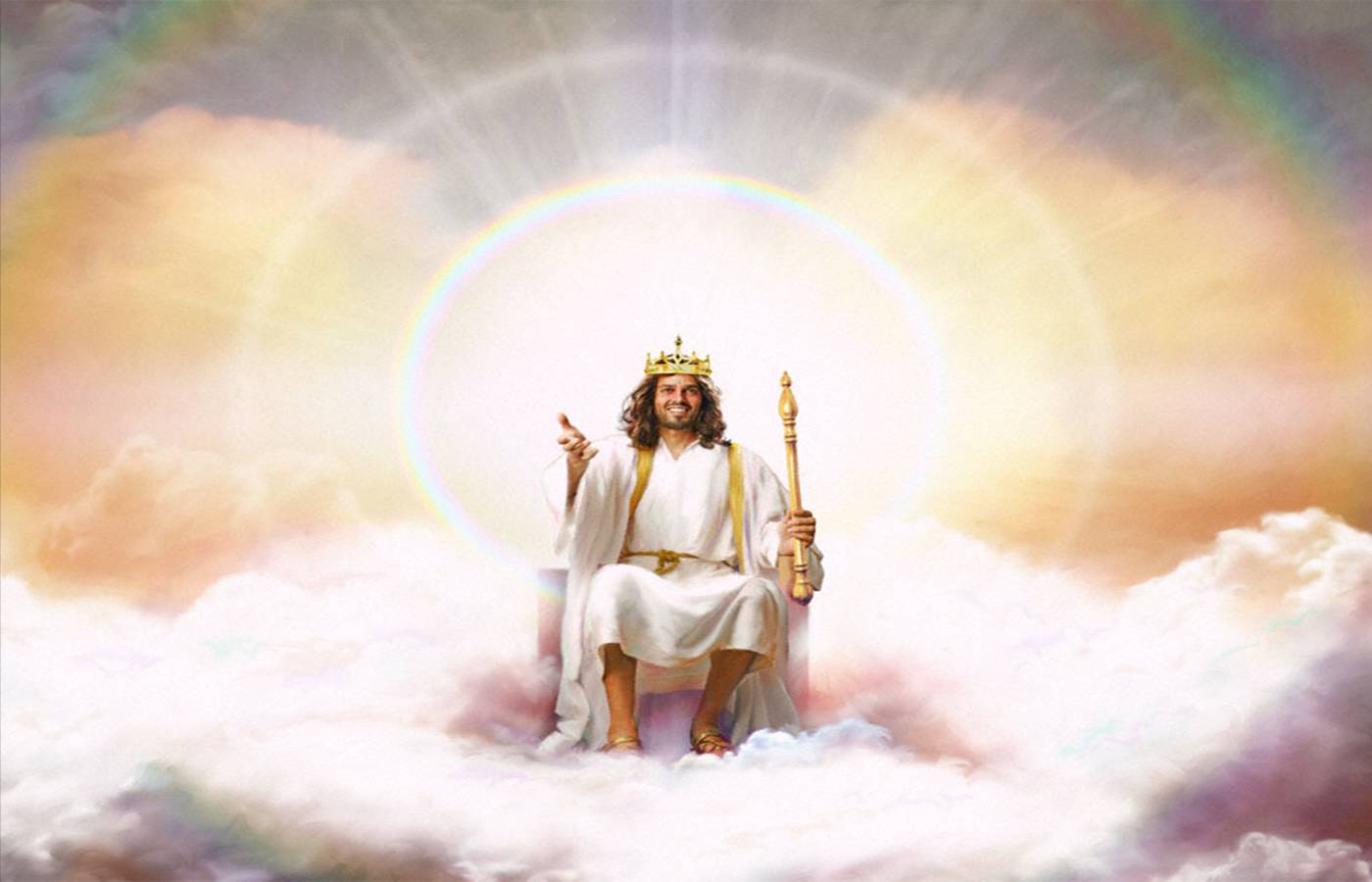 Image result for image of jesus on the throne