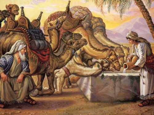 Rebekah Watering Camels
