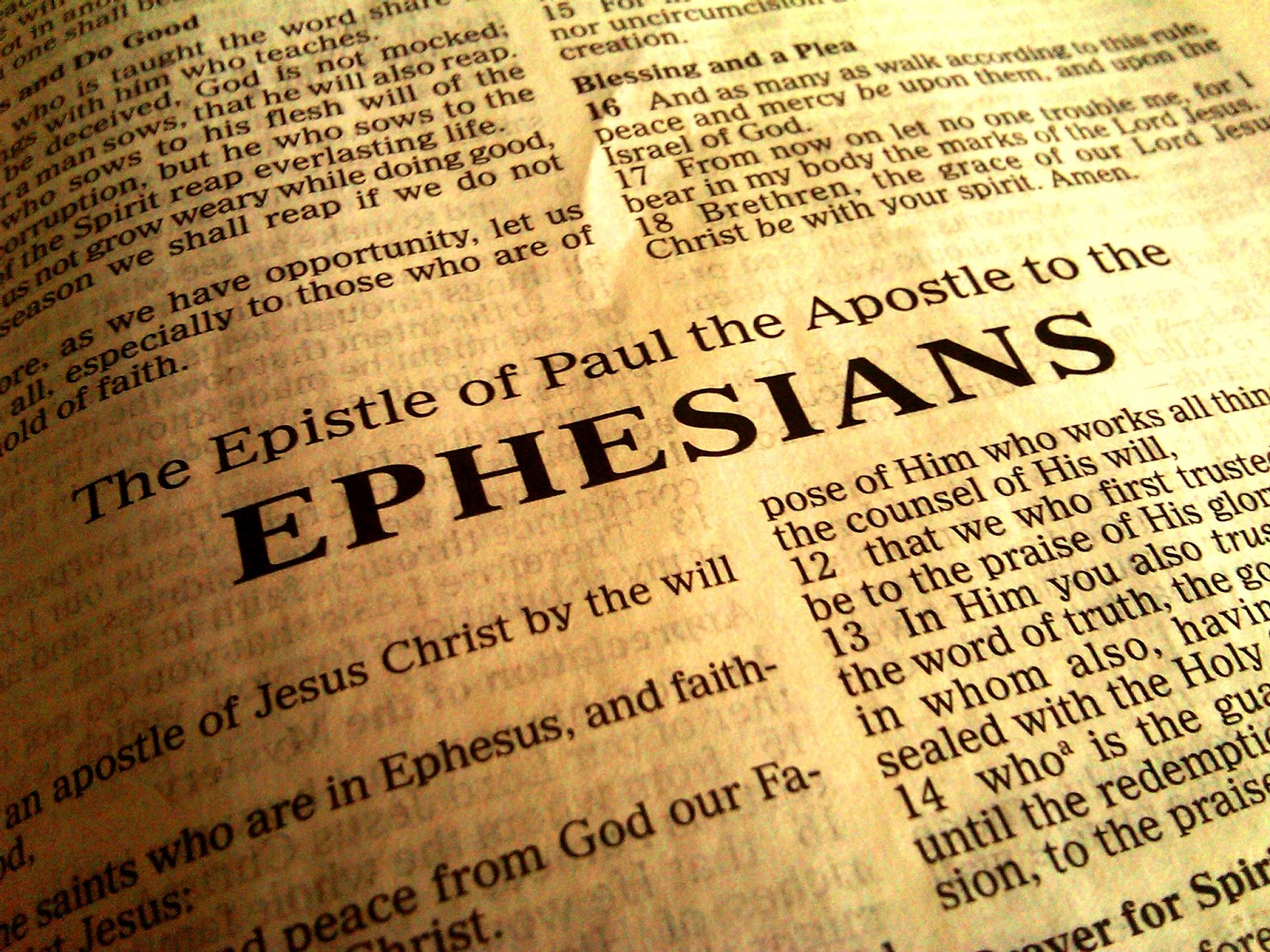 Paul Letter To The Ephesians Chapter