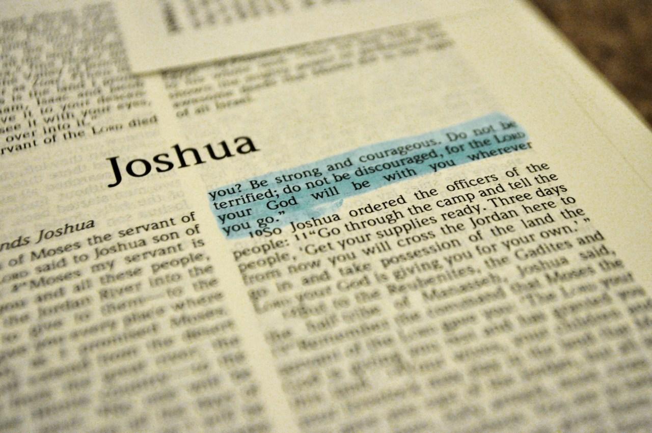 great verses of the bible joshua 1 9 thepreachersword