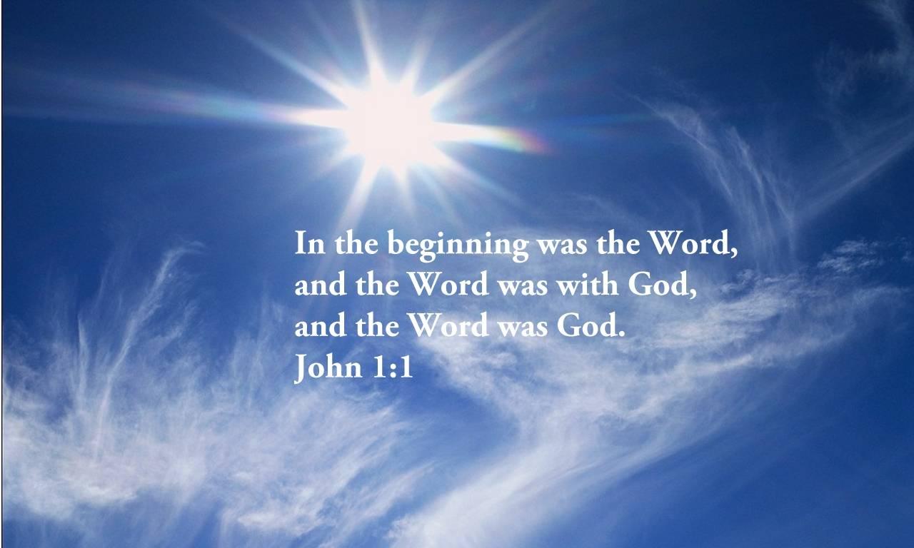 Great Verses Of The Bible John 1 1 Thepreachersword