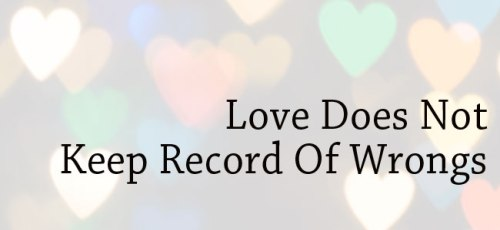 Love. Record of wrongs