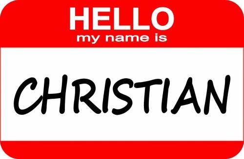 Name Tag Christian